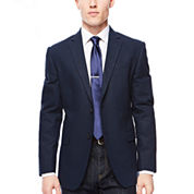 JF J. Ferrar® Navy Diamond Sport Coat - Slim Fit