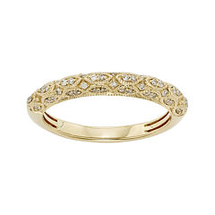 1/5 CT. T.W. Certified Diamond 14K Yellow Gold Wedding Band