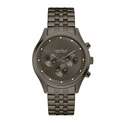 Caravelle New York® Mens Chronograph Gunmetal Stainless Steel Watch 45A133