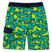 Arizona Comic Sharks Swim Trunk - Preschool Boys 4-7