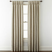 Liz Claiborne® Fleur Jacquard Pinch-Pleat/Back-Tab Room-Darkening Curtain Panel