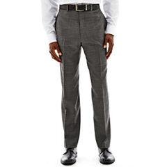 Claiborne® Black & White Nailhead Flat-Front Suit Pants - Classic Fit