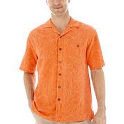 Island Shores™ Short-Sleeve Silk Jacquard Shirt