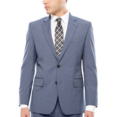 JF J. Ferrar Texture Stretch Light Blue Jacket- Classic Fit