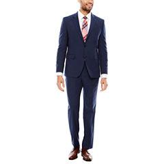 JF J. Ferrar Stretch Texture Dark Blue Suit Separates- Slim Fit
