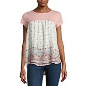 Rewind Short Sleeve Round Neck T-Shirt-Juniors