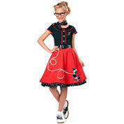 Buyseasons 50s Sweetheart Child Costume Girls 5-pc. Dress Up Costume