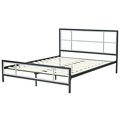 CARA DECORATIVE METAL COMPLETE BED QN