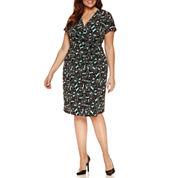 Liz Claiborne Short Sleeve Sheath Dress-Plus