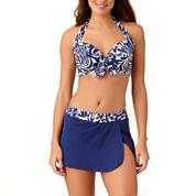 Liz Claiborne Mystique Cobalt Bra Swimsuit Top or Swim Skirt