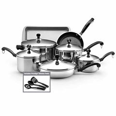 Farberware 15-pc. Stainless Steel Cookware Set