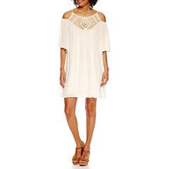 Roxberi Cold Shoulder Peasant Dress