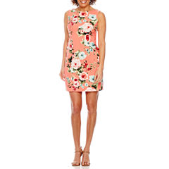 Studio 1 Sleeveless Twill Sheath Dress