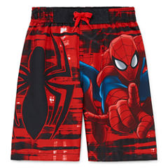 Boys Spiderman Swim Trunks-Preschool