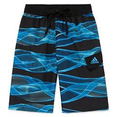 Adidas Boys Make Waves Swim Trunks-Big Kid