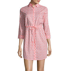 St. John's Bay 3/4 Sleeve Shirt Dress