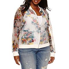 Ashley Nell Tipton for Boutique + Bomber Jacket-Plus