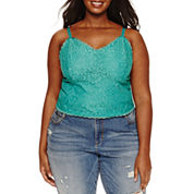 Ashley Nell Tipton for Boutique + Knit Tank Top-Plus