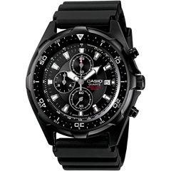 Casio® Mens Black Chronograph Dive Watch AMW330B-1A