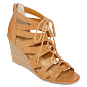 a.n.a® Jadine Lace-Up Wedge Sandals