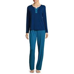 Liz Claiborne Jersey Pant Pajama Set-Talls