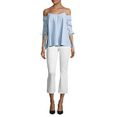 i jeans by Buffalo Draped Off Shoulder Top or Crop Flared Jeans