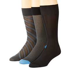 Stafford® 3-pk. Nylon Microfiber Crew Socks–Big & Tall