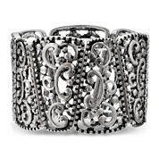 Mixit™ Scroll Silver-Tone Wide Stretch Bracelet