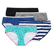 Flirtitude® 5-pk. Tailored Hipster Panties