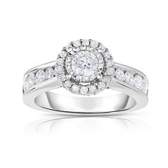 True Love, Celebrate Romance® 1½ CT. T.W. Diamond 14K White Gold Engagement Ring
