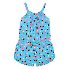 Okie Dokie® Sleeveless Ruffle-Hem Romper - Toddler Girls 2t-5t