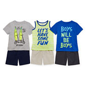 Okie Dokie® Graphic Tees, Tank or Shorts - Toddler Boys 2t-5t
