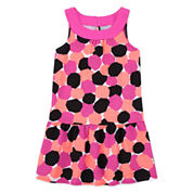 Okie Dokie® Print Yoke Dress - Preschool Girls 4-6x
