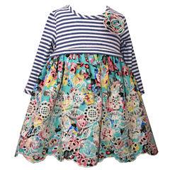 Bonnie Jean Long Sleeve Cap Sleeve A-Line Dress - Baby Girls