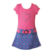 Lilt Short Sleeve Drop Waist Dress - Toddler