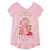 Disney Beauty and the Beast Graphic T-Shirt-Big Kid Girls