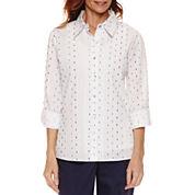 Alfred Dunner Long Sleeve Button-Front Shirt