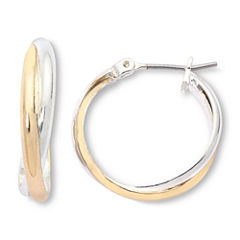 Mixit Two-Tone, Twisted Hoop Earrings