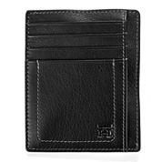 Haggar® Buckskin Front Pocket Leather Wallet