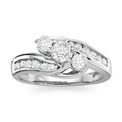 Love Lives Forever™ 1 CT. T.W. Diamond 10K White Gold Ring