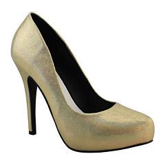 Michael Antonio Launey Metallic High-Heel Pumps
