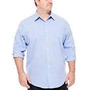 Van Heusen Long-Sleeve Stretch Non-Iron Travel Shirt - Big & Tall