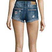 Soundgirl Destroyed Raw-Cuff Short Shorts