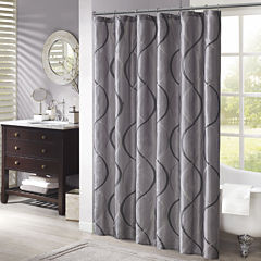 Madison Park Cecile Embroidered Shower Curtain