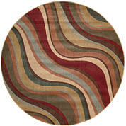 Nourison® New Wave Carved Indoor Round Rug