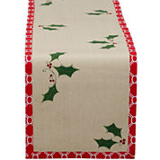 Holly Jolly Printed Cotton Table Runner