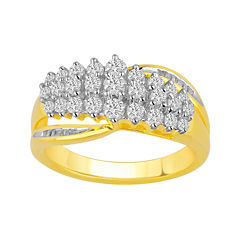1 CT. T.W. Diamond Waterfall Ring