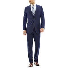 JF J. Ferrar® Blue Stretch Gabardine Stretch Suit Separates - Slim