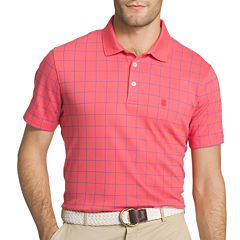 IZOD Short Sleeve Grid Interlock Polo Shirt
