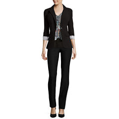 By & By Necklace Top, Slim Fit Pants or Boyfriend Jacket